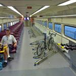 """Un vagón en el tren dedicado a los """"bicicletos"""""""