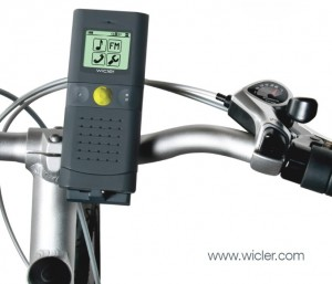 El Wicler fijado a la bici