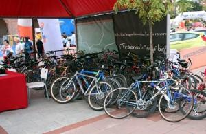 Bicis recogidas en Madrid para la iniciativa Bicis por África