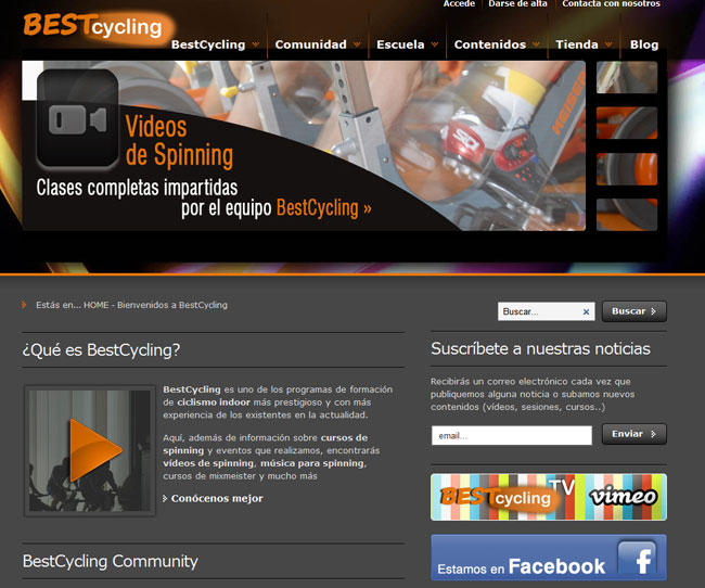 Home de la web de Bestcycling