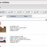 Captura de eventos en formato listado