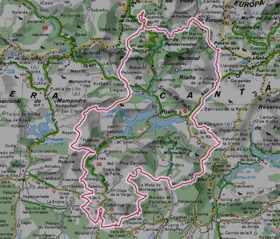 Mapa de Pedales de León
