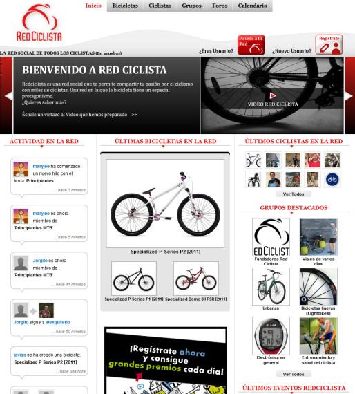 La red social de los ciclistas