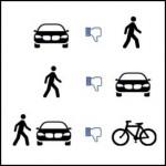 A vehículos y peatones molestamos los ciclistas