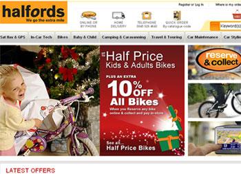 Web tiendas Halfords